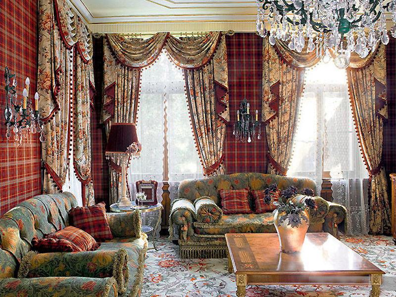 шторы для гостиной в английском стиле фото любом